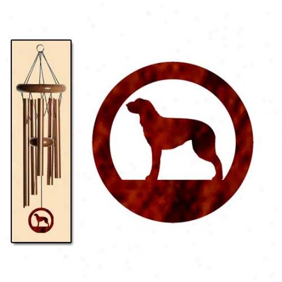 Scottish Deerhound Wind Chimes Small Bronze