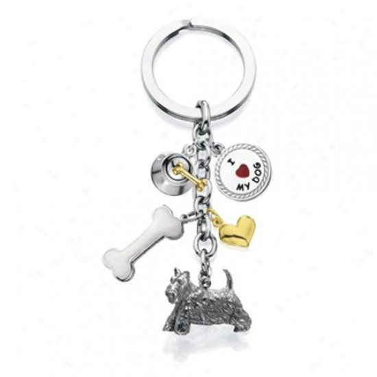 Scottish Terrier - I Love My Dog Keychain