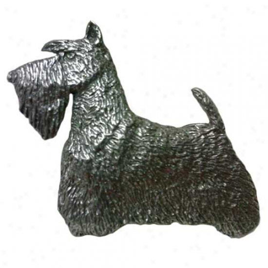 Scottish Terrier Pewter Pin