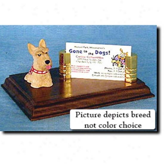Scottish Terrier (wheaten) Business Card Holder