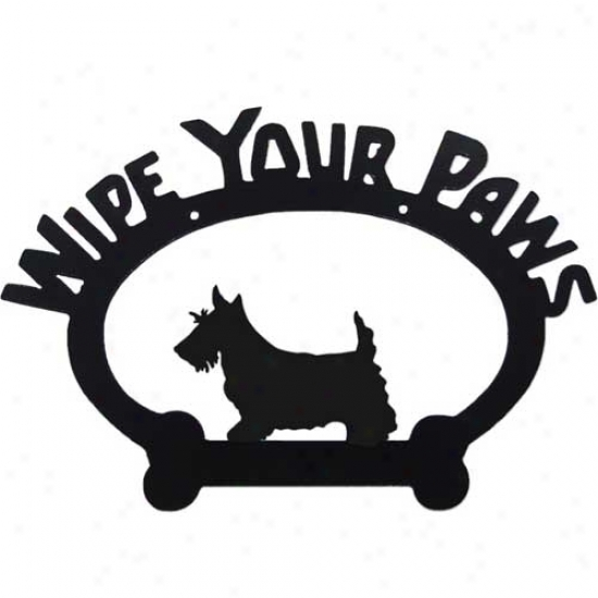 Scottish Terrier Wipe Your Paws Decorative Sign