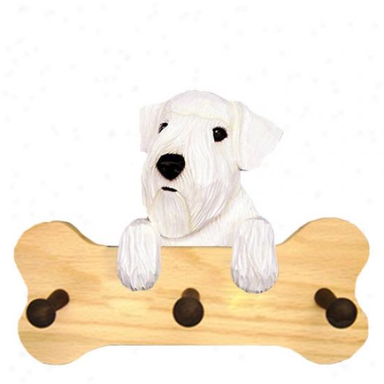 Sealyham Terrier Bone Hang Up Natural Oak