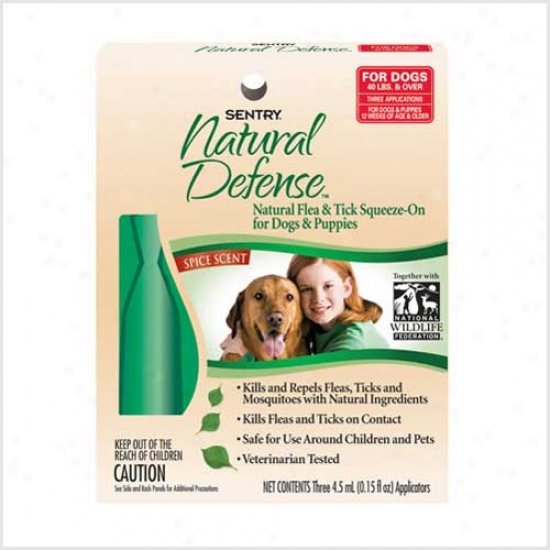 Watch Natural Defense Flea And Tick Squeeze On Dogs - Pups Over 40lbs 3pk