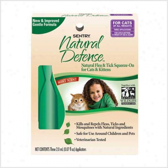 Sentry Essential Defense Natural Flea And Tick Sqjeeze On Cats - Kittens 3pk