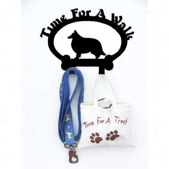 Shetand Sheepdog Leash Holder