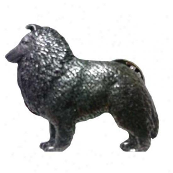 Shetland Shepherd dog Pewter Pin
