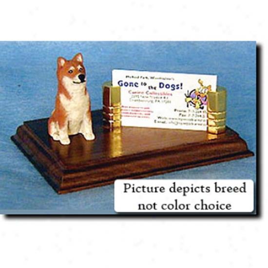 Shiba Inu (red Sesame) Business Card Holder
