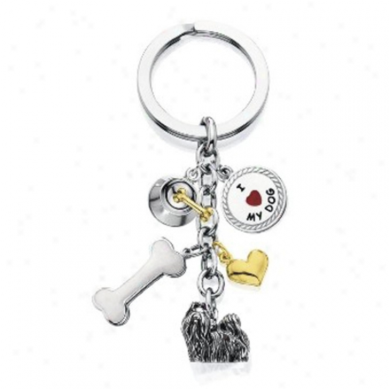Shih Tzu - I Love My Dog Keychain