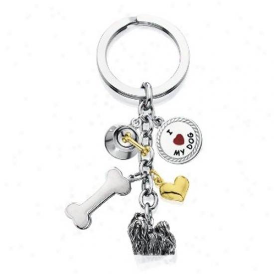 Shih Tzu - I Love My Dog Keychain