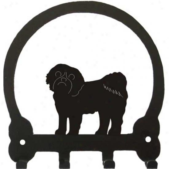 Shih Tzu (pet Clip) Key Rack By Sweeney Ridge