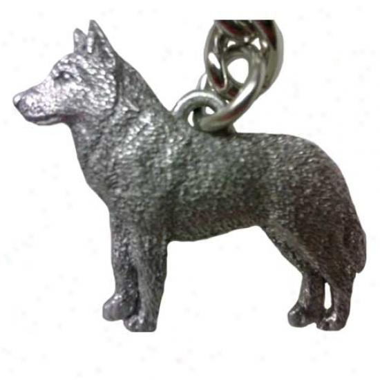 Siberian Husky Geprge Harris Pewter Keychain
