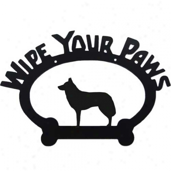 Siberian Husky Wipe Your Paws Decorative Sign