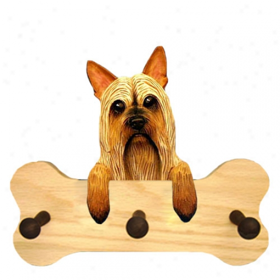 Silky Terrier Bone Hany Up Natural Oak