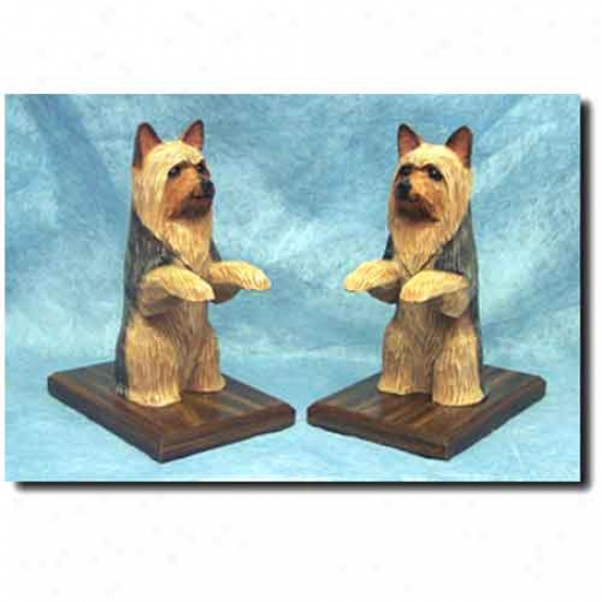 Silky Terrier Bookends