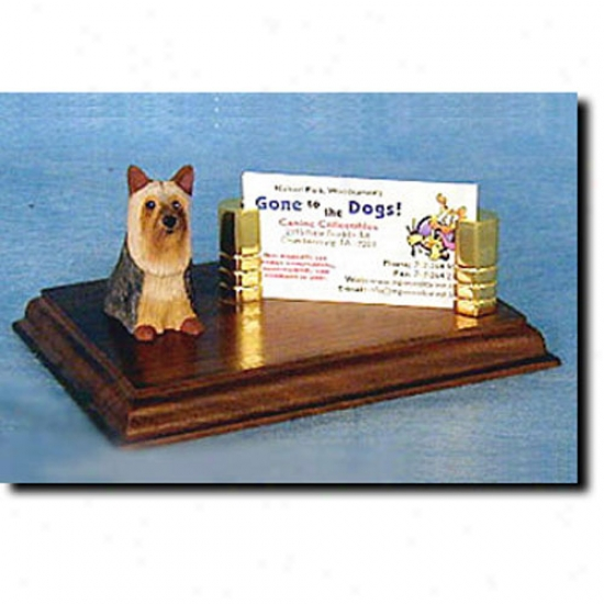 Silky Terrier Business Card Owner