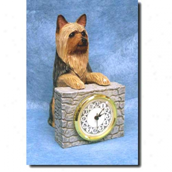 Silky Terrier Cover Clock