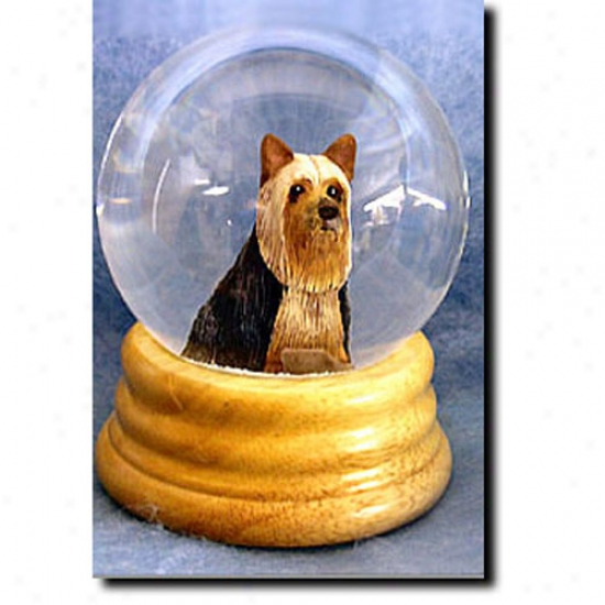 Silky Terrier Musical Snow Sphere