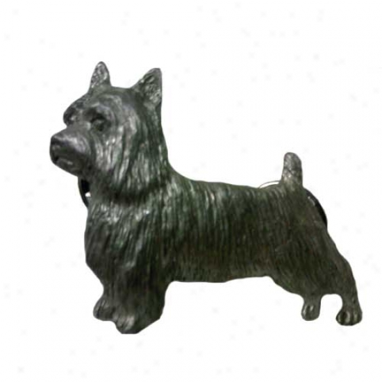 Silky Terrier Pewter Pin