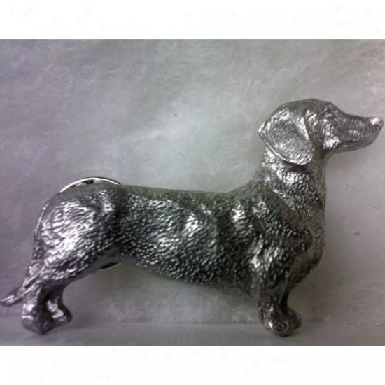 Smooth Dachshund Pewter Pin