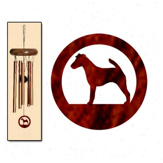 Smooth Fox Terrier Wind Chimes X-small Bronze