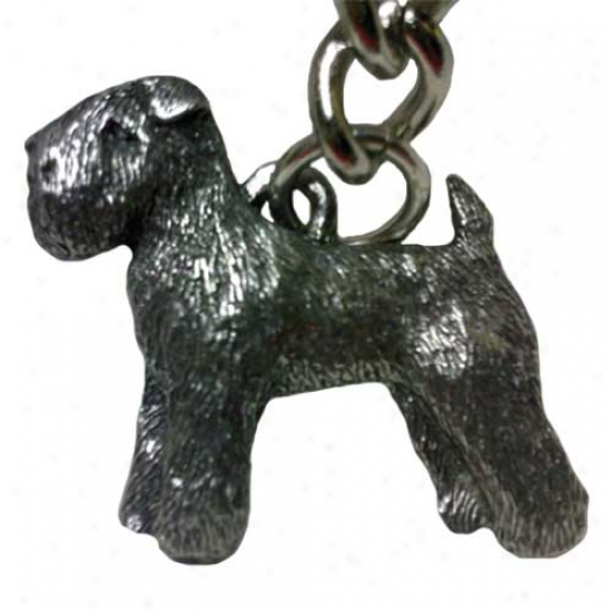 Soft Coated Wheaten Terrier George Harris Pewter Keychain