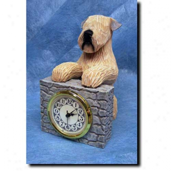 Soft Coated Wheaten Terrier Mantle Clock