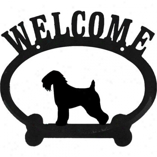 Soft Coated Wheaten Terrier Metal Welcome Sign