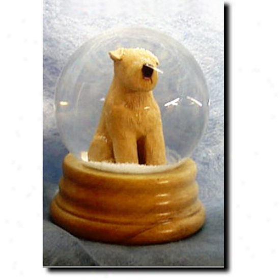 Soft Coated Wheaten Terrier Musical Snow Globe