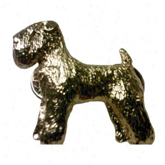 Soft Coated Wheaten Terrier Pin 24k Gold Plated