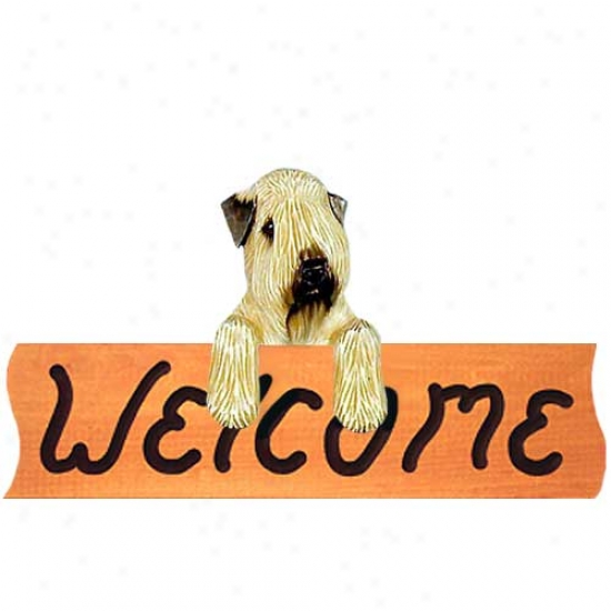 Soft Coated Wheaten Terrier Acceptable Sign Maple