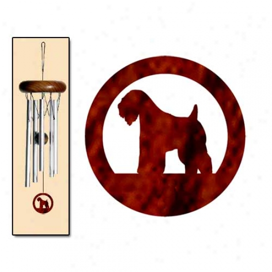 Soft Coated Wheaten Terrier Wind Chimes X-small Silver