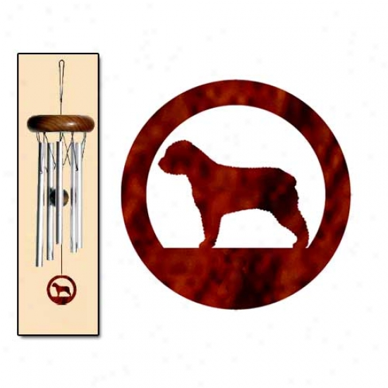 Spanish Water Dog Wind Chimes X-small Silver