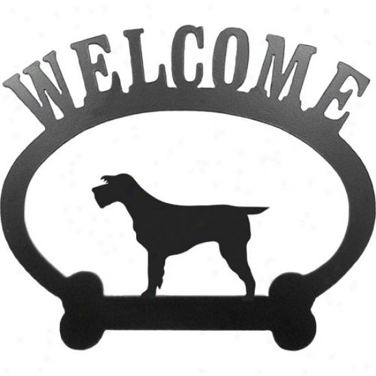 Spinone Italiano Welcome Sign By Sweeney Ridge