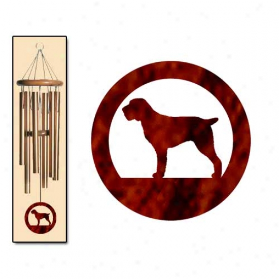Spinone Italiano Wind Chimes Medium Brown