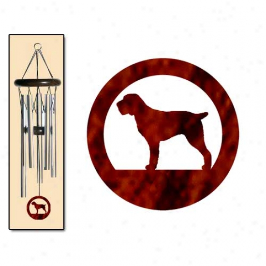 Spinone Italiano Wind Chimes Small Silver