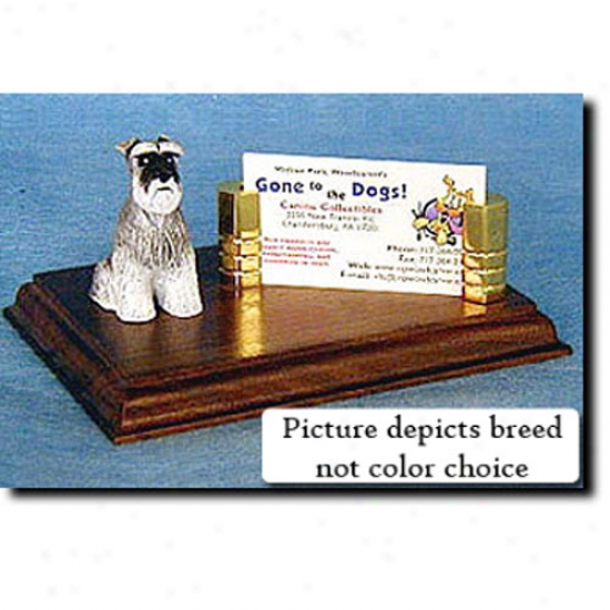 Standard Schnauzer (black) Business Card Holder - Fool