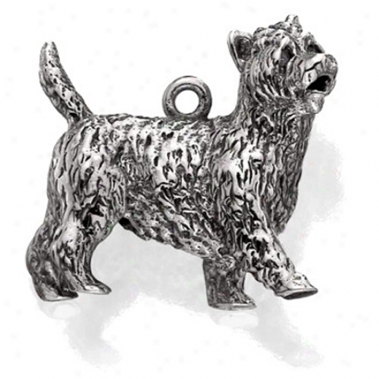 Sterling Silver Carin Terrier Charm