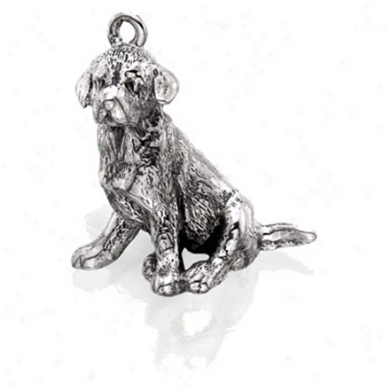 Sterlin Silver Golden Retriever Charm