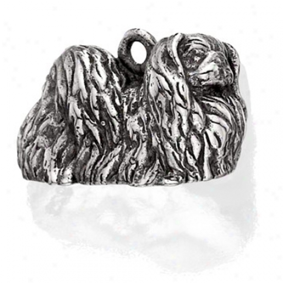Sterling Silver Pekingese Subdue by a ~