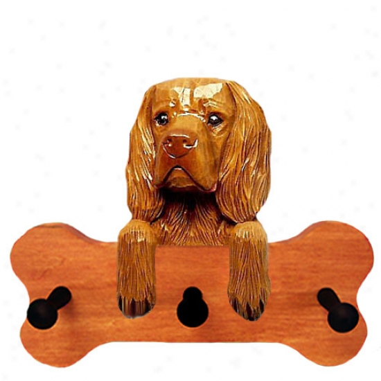 Sussex Spaniel Bone Hang Up Maple Finish