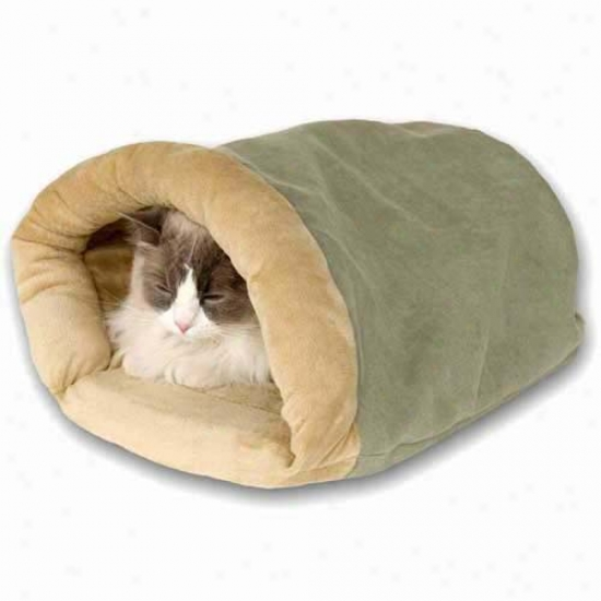 Thermo Crinkle Sack Heated Cat Bed Mocha