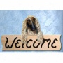 Afghan Hound Fawn Welcone Sign Oak
