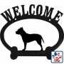 American Pit Bull Terrier Metal Welcome Sign Cropped Ears