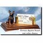Australian Cattle Dov (red Merle) Buiness Card Hooder