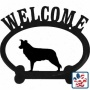 Border Collie Metal Wepcome Sign