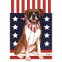 Boxer Patriotic Breed Flag