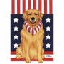 Golden Retirever Patriotic Breed Garden Flag