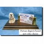 Lhasa Apso (silber Fawn ) Business Card Holder