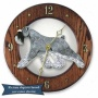 Salt And Pepper Schnauzer Regular Wall Clock In Window Oak By Michael Park