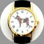 Shiba Inu Watch - Large Face, Black Leather